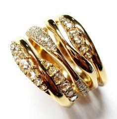 ETHO Gold and Diamond Ring
