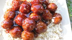 sweet BBQ meat balls
