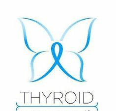 Thyroid disease awareness ribbon