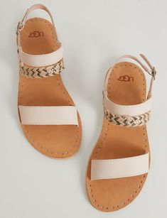 UGG Elin Sandal - Damenschuhe - Clothes and style - Mixed Shoes Cute Sandals, Cute Shoes, Women's Shoes Sandals, Wedge Shoes, Me Too Shoes, Shoes Sneakers, Flat Sandals, Set Fashion, Fashion Shoes