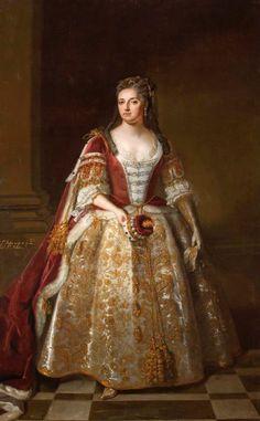 1727 Angelica Magdalena Wharton, née Pelissary (c.1664–1736), 1st Viscountess St John, in Coronation Robes by circle of John Vanderbank (Lydiard House - Lydiard Park Lydiard Tregoze, Swindon, Wiltshire UK) | Grand Ladies | gogm