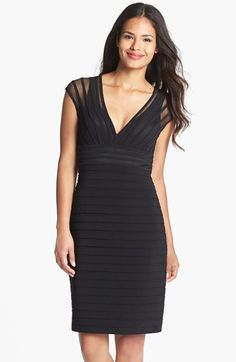 Adrianna Papell Shutter Pleat Jersey Sheath Dress (Regular & Petite) available at #Nordstrom