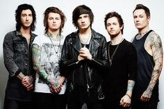 """Can a band continue on after their lead singer moves onto """"greener pastures""""? You're damned right it can and Asking Alexandria shows how easy it is with The Black. Asking Alexandria 2016, Asking Alexandria Albums, Ben Bruce, Issues Band, Cameron Liddell, Rock Music News, Butcher Babies, Sea Wallpaper, Bands"""