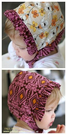 5 DIY Ruffled Baby Bonnet Free Sewing Patterns | Fabric Art DIY Girl Dress Patterns, Coat Patterns, Blouse Patterns, Sewing Patterns Free, Free Sewing, Baby Patterns, Skirt Patterns, Fabric Patterns, Smocking Tutorial