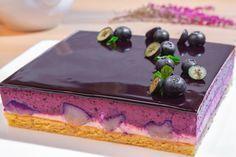 черничный торт с грушей