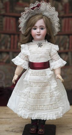 """22"""" (56 cm) French Bisque Bebe """"Dep"""" by Jumeau, with Original body, from respectfulbear on Ruby Lane"""