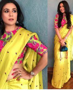 buy online Yellow colour designer heavy party wear fancy fabric saree with banglori designer blouse at joshindia Fancy Sarees, Party Wear Sarees, Saree Designs Party Wear, Indian Dresses, Indian Outfits, Saree Poses, Elite Fashion, Women's Fashion, Saree Fashion