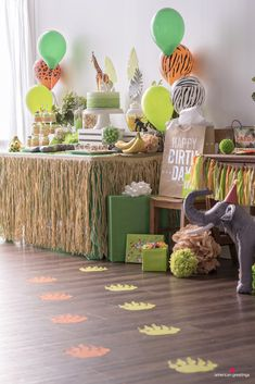 Lions, tigers and birthdays. Whether you are planning a party for your little cub, or the king of the jungle our collection of helpful party ideas, DIY's and printables will make your safari birthday adventure come to life. So gather all your party Jungle Theme Parties, Jungle Theme Birthday, Safari Theme Party, Wild One Birthday Party, Safari Birthday Party, Boy Birthday Parties, 1st Boy Birthday, Birthday Party Decorations, 1st Birthday Party Ideas For Boys