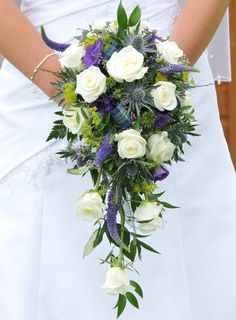 Wedding Flowers Scottish Thistle Bridal Bouquet