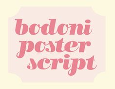 Bodoni Poster Script by Molly Bramlet, via Behance