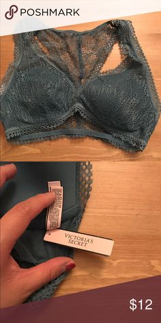 Lace Racerback Bralette Pretty scalloped lace in a light and stretchy racerback shape. -Lift & Lining -Wireless cups -Pullover style -Racerback Victoria's Secret Intimates & Sleepwear Bras
