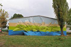 Peeta graffiti piece Bosnia 2012