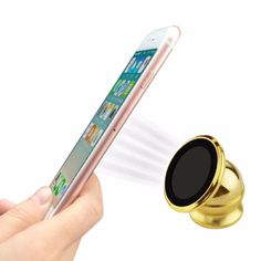 Reiko Universal Super Suction Magnetic Car Stand Mount Holder-Gold (Best For Hands Free Use)