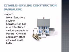 Skyline Construction Bangalore and the resources Provided by them
