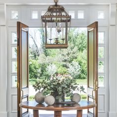 "252 Likes, 11 Comments - Chez Pluie Provence (@chezpluie) on Instagram: ""A large lantern makes a statement in this gorgeous entryway.  Recreate this look with our 19th…"""