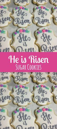 He is risen - Easter Cookies Sugar Cookies #affiliate