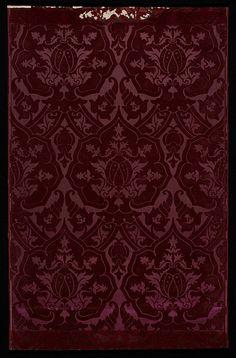 V&A: Flocked satin wallpaper