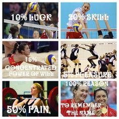 Volleyball motivation it may be hard at first but when you set your mind on the win at the end it's so worth it!!!