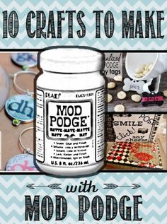 There's been so many fads in the craft world over the past few years but one thing always stays the same: Mod Podge. Any crafter I know has bottles of this amazing stuff laying around. Mod Podge crafts are all the rage and have been for years. Decoupage using Mod Podge was... #crafts #modpodge
