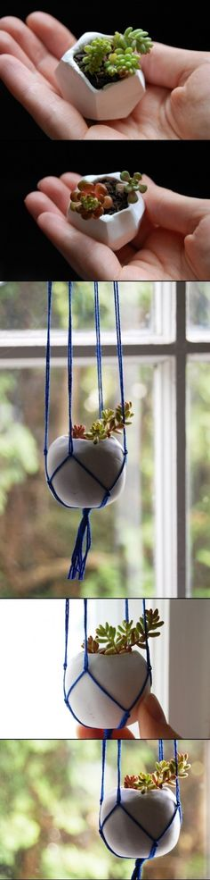 DIY Tiny Clay Pots Ideas.  Great to Give as a Gift Idear!