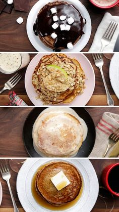 Make Christmas morning even more festive with flavored holiday pancakes like hot chocolate, eggnog, gingerbread and more!