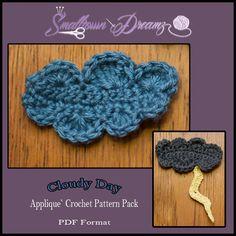 Cloud Applique Crochet Pattern. $1.50, via Etsy.