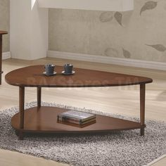 Coaster Furniture Wood Coffee Table with Shelf - Walnut - 704058 Coffee Table End Table Set, Triangle Coffee Table, Coffee Table With Shelf, End Table Sets, Cool Coffee Tables, Mod Furniture, Coaster Fine Furniture, Entryway Furniture, Bedroom Furniture