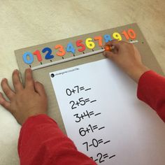 This easy DIY number line counting tool is perfect for young children that are starting to learn the concept of counting on a number line.