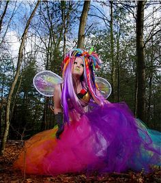 tulle, colorful hair and wings! EEP!