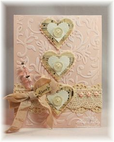 Classy Chic Card - For more #Valentine's Day Gift #Card ideas, click: http://www.rewards4mom.com/14-adorable-sweet-funny-homemade-valentines-card-ideas/