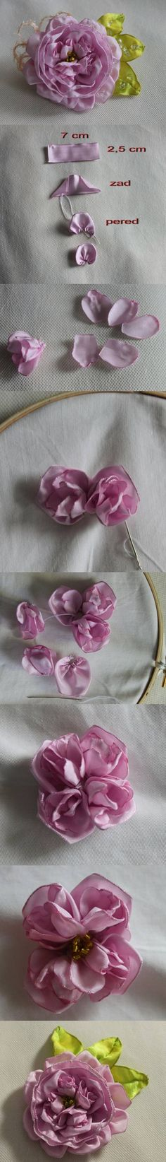 DIY English Rose Brooch Tutorial