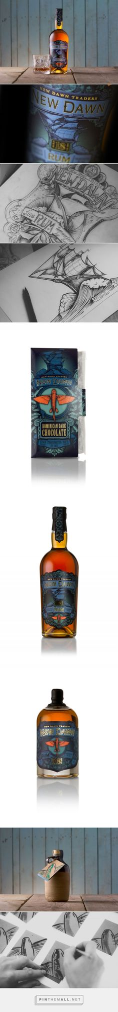 New Dawn Traders Rum | Rum label design, Illustration... - a grouped images picture - Pin Them All
