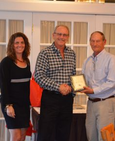 Atlantic Caisson Corp's Michael Koller is shown here receiving his 20-Year ABC member anniversary plaque.