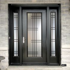 Glass door design entrance wrought iron 58 new Ideas Window Grill Design Modern, Grill Door Design, Door Gate Design, Door Design Interior, Wooden Door Design, Main Door Design, Front Door Design, Door Grill, Vidro Art Deco