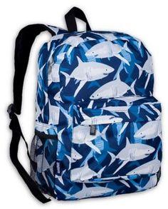 83412a3c5e Wildkin Sharks Crackerjack Backpack Kids Beds For Boys