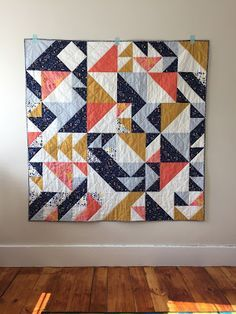 a custom half-square triangle quilt – Salty Oat