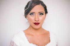 Perfect for a Fall wedding. Bride Makeup, Wedding Hair And Makeup, Hair Makeup, Dark Smokey Eye, Burgundy Lips, Braut Make-up, Glamour, Lime Crime, Getting Married
