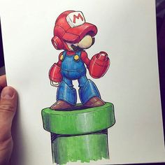 MegaMario drawing by @jakeparker  #megaman #mario #supermario #nintendo #videogameart #nintendoregram #gameart Thanks Jake! =D