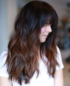 Black To Chestnut Ombre Hair
