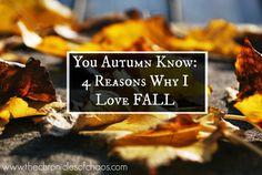 Reasons Why I love Fall; Autumn, Fall leaves