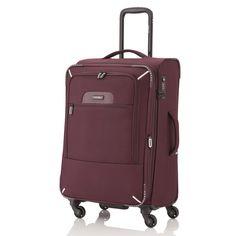 Mittlerer #Koffer travelite CrossLITE bei Koffermarkt: ✓4 Rollen ✓leicht ✓TSA-Schloss  ✓Farbe: merlot ✓erweiterbares Volumen ⇒Jetzt kaufen