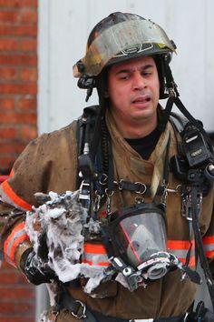 Un chat sauvé des flammes