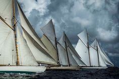 Grand Old Ladies of the Sea. Welcome to Régates Royales de Cannes -- one of the largest vintage yacht races in the world. Cannes, Classic Sailing, Classic Yachts, Panerai Luminor, Home Pictures, Sailing Ships, Challenges, Racing, Vintage