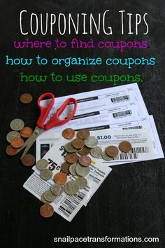 Couponing Tips: Where to find coupons, how to organize coupons, how to use coupons