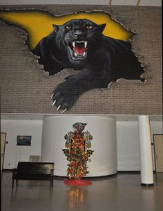 hight school murals | Liberty High School Panther Mural ~ Art inspires!