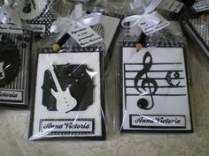 Lembrancinha MusicaTema Rock