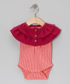 Take a look at this Red Heart Organic Yoke Bodysuit - Infant on zulily today!