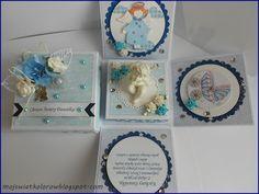 Mój świat kolorów...: Exploding box dla Dawidka... Exploding Boxes, Coasters, Coaster, Coaster Set