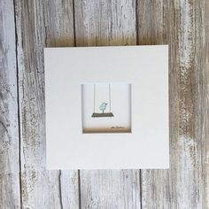 Original Pebble Art 5 by 5 Mini unframed Pebble Picture by