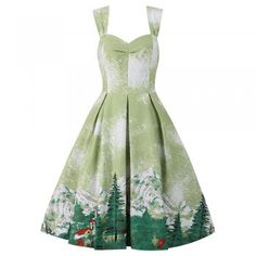 Gutted ive only just discovered this dress. All sold out in my size :-(. Renee Green Alpine Twin Set   Vintage Styles Dresses - Lindy Bop